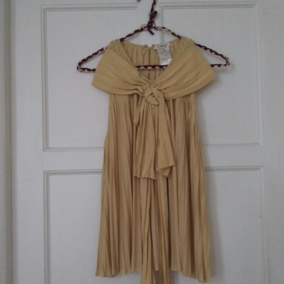 Chloe Tops - Accordian pleated silk blouse